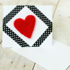 Make this quick and easy (and oh, so unique) needle felted card for your Valentine! This FREE tutorial will show you how ...