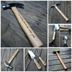 Personalized Hammer - Engraved Hammer - Fathers Day Gift - Husband Gift- Best Man Gift- Hand engraved custom designed