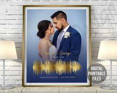 Custom Sound Wave and Wedding Photo art Wedding Anniversary | Etsy First Dance Songs, Rainbow Connection, Sound Waves, High Resolution Photos, You Are The Father, Custom Art, Order Prints, Printing Services, Wedding Anniversary