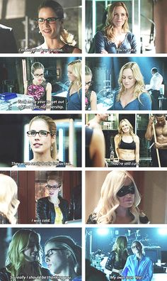 Arrow - Felicity Smoak & Sara Lance #Season2 ohhh i miss them together so much :'(