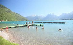 Lac d'Annecy is one of France's most-loved swimming lakes. Set among towering peaks, its clear waters are warmed by thermal springs.