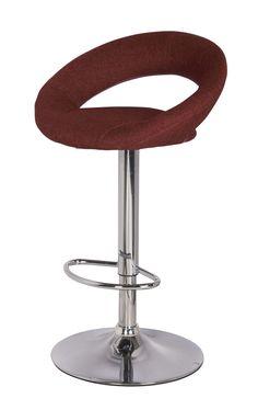 Fritzi Gaslift Bar Stool, Crimson (Set of 2)