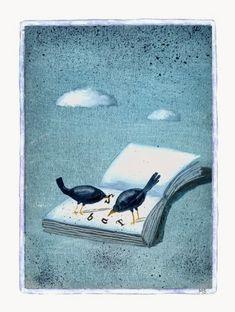 Illustrations about books - Mariusz Stawarski - Food for the mind