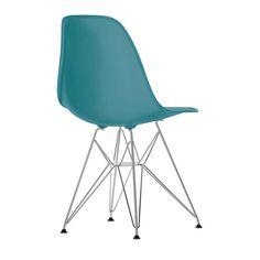 Vitra Eames DSR stoel met verchroomd onderstel | FLINDERS verzendt gratis