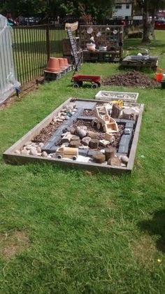 65 Affordable Kids Garden Ideas With Outdoor Play Areas - Alles für den Garten Kids Outdoor Play, Outdoor Play Spaces, Kids Play Area, Outdoor Learning, Backyard For Kids, Outdoor Fun, Outdoor Car Track For Kids, Backyard Ideas, Natural Play Spaces