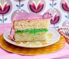 Pink, Purple and Green Lemon Cake | Tasty Kitchen: A Happy Recipe Community!