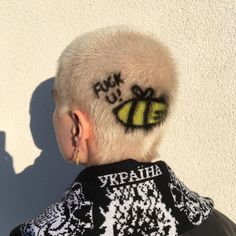 You are in the right place about shaved hair designs rose Here we offer you the most beautiful pictu Dye My Hair, New Hair, Chica Skinhead, Style Blog, Shaved Head Designs, Hair Inspiration, Hair Inspo, Buzzed Hair, Shave My Head