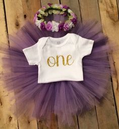 First Birthday Outfit Girl, Purple  and Gold Girl, Putple Baby, Smash Cake Girl, 1st Birthday Girl Outfit, Girl First Birthday Outfit by HeartfeltCreations8 on Etsy https://www.etsy.com/listing/453499244/first-birthday-outfit-girl-purple-and