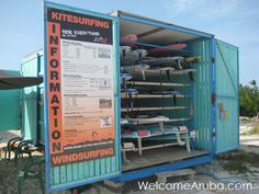 This is where in Aruba I'll be renting windsurfing gear this summer. Fishermans Huts!