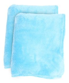 Loving this Sea Breeze Fleece Throw Blanket - Set of Two on #zulily! #zulilyfinds