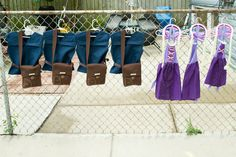 Flynn Rider vests and satchels for the boys and Rapunzel aprons and wigs for the girls. PC: Eugenia Gallardo