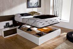 Si ya no sabes dónde colocar tus prendas, puedes optar por una cama similar a esta y vive organizado.