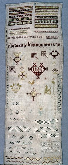 Sampler, early 17th century