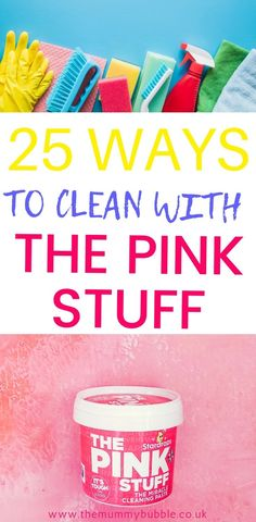 Top tips for cleaning your home with The Pink Stuff just like Mrs Hinch! Household Cleaning Tips, House Cleaning Tips, Diy Cleaning Products, Deep Cleaning, Cleaning Hacks, Spring Cleaning, Cleaning Vinegar, Weekly Cleaning, Cleaning Checklist