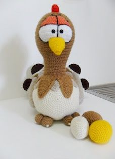 Crochet Easter Chicken..