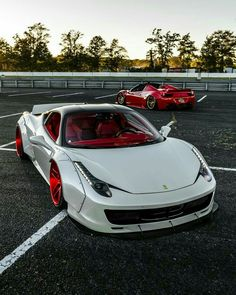 Double Liberty Walk Photo by Repost: owner is tagged Liberty Walk Cars, Ferrari Spider, F12 Tdf, Mc Laren, Fancy Cars, Top Cars, Performance Cars, Car Audio, Amazing Cars