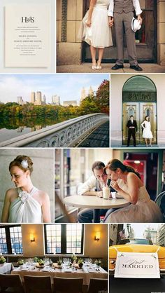 Modern Courthouse Wedding