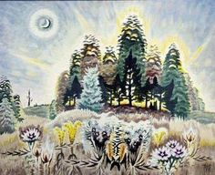 It's About Time: The monotonous, mechanical, brassy rhythms of American landscapes by Charles Burchfield (1893-1967)