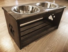 12 Raised Dog Feeder Elevated Bowl Stand Feeding by KEJwoodworks