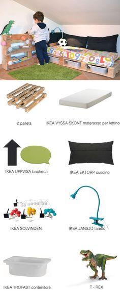 "Foto ""pinnata"" dalla nostra lettrice Rosandra Ferri. Pallet + Ikea = DIY reading nook"