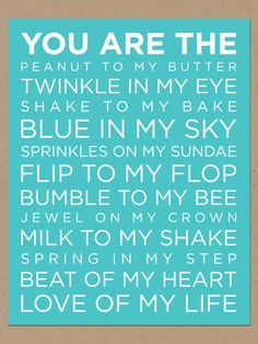 you are the love of my life poster by tingcreates on Etsy, $15.00