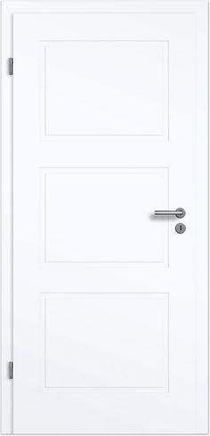 Blanco Flair 3FS Füllungs-Designtür-Komplettelement Weißlack