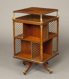 Century French Kingwood and Ormolu Revolving Bookcase For Sale French Furniture, Vintage Furniture, Painted Furniture, Furniture Design, Furniture Ideas, Book Furniture, Outdoor Furniture, Furniture Storage, Modern Furniture