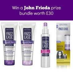 I've teamed up with John Frieda to give you the chance to win a hair care prize bundle worth £30. So if your hair needs some TLC, make sure to enter...