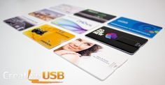 Create a more grandiose brand impression with custom printed credit card styled #usb drives.
