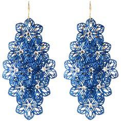 Amrita Singh Selina Flowery Earrings ($20) ❤ liked on Polyvore featuring jewelry, earrings, accessories, amrita singh earrings, gold tone drop earrings, flower drop earrings, amrita singh jewelry and flower earrings