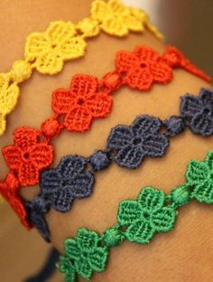 macrame bracelet - made of cashmere