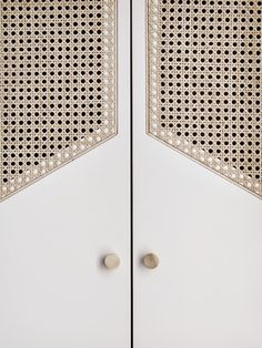 Such a sucker for rattan. Custom wardrobe doors in Hôtel Doisy, a boutique hotel in Paris by Architecture Details, Interior Architecture, Interior Design, Interior Detailing, Cool Furniture, Furniture Design, Inexpensive Furniture, French Furniture, Recycled Furniture