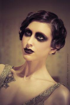 jcoronamakeupblog:    Vampy Alix Michelle! Photo by @Shannon_Brooke. 30's #vintage inspired #makeup & #hair by @JenniferCorona