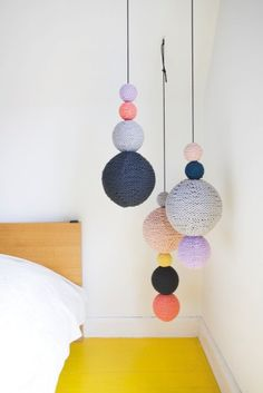 oversized crochet mobile