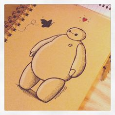 Baymax Loves Butterflies :) by DeeeSkye.deviantart.com on @DeviantArt