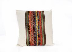 Hemp Cushion Cover Pillow Case Ethnic With by HomemadeThailand