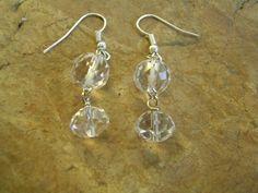 Crystal Quartz Earrings by KottageKreations on Etsy, $15.00