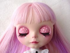 blythe- I LOVE her eyelids- should I do this or covered in fabric?