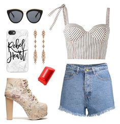 """""""Beachy days"""" by emmavanweert on Polyvore featuring Jeffrey Campbell, Rosie Assoulin, Le Specs, Fernando Jorge, Bobbi Brown Cosmetics and Casetify"""