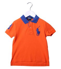 Ralph Lauren Orange/Blue Collar Polo Shirt