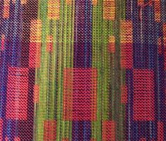 color blocks by Su Butler  painted silk noil warp with 20/2 silk wefts