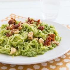 Spaghetti Squash with Garlicky Kale Pesto Recipe