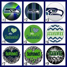 Seattle Seahawks Bottle Cap Necklace. Make great by JLsKreations, $4.00