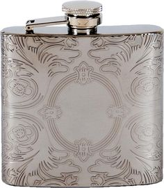 6Oz Lucienne Mirror Design Finish Hip Stainless Steel Liquor Flask