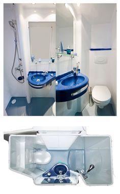 1000 images about salle de bain gain de place on - Meuble de salle de bain gain de place ...