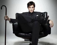 Ian Somerhalder - I've always wanted to sit in a chair, swivel it around and say: I've been expecting you.