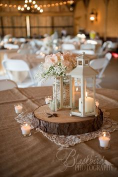 rustic vintage mason jar lantern wedding centerpiece…