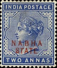 Stamp: Queen Victoria (overprint) (India, Princely States) (Nabha State) Mi:IN-NS 11 Queen Victoria, Commonwealth, Colonial, Stamps, Prince, British, Kids Rugs, Indian, Seals