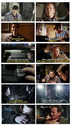 like father like son. Such love for Stiles and Papa Stilinski