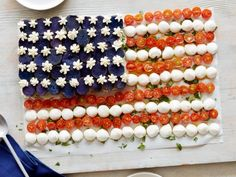 Get American Flag Caprese Salad Recipe from Food Network
